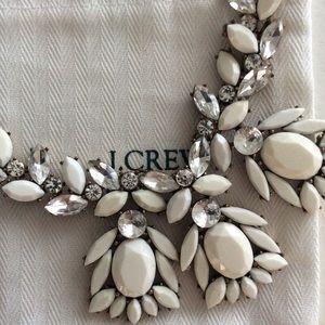Jcrew white statement necklace With jewelry bag